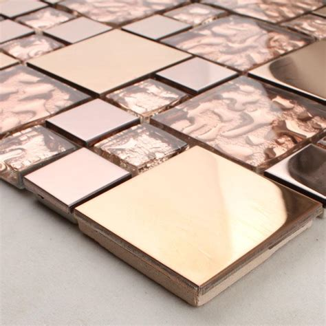 metallic tiles backsplash wholesale metallic backsplash tiles brown 304 stainless