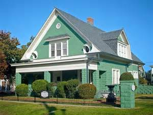 the color house green green house with white trim 2017