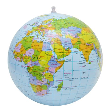 cm inflatable globe world earth ocean map ball geography
