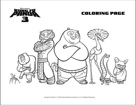 kung fu panda coloring book pages dreamworks kung fu panda 3 trailer and party printables