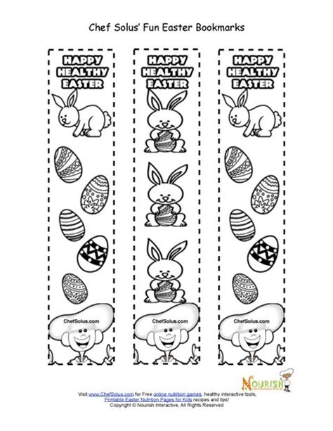 printable holiday bookmarks to color holiday 5 easter bookmark for kids coloring page