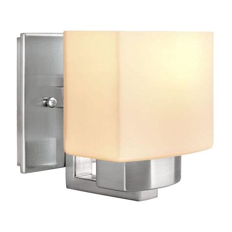 Home Depot Wall Sconces Hton Bay 1 Light Brushed Nickel Sconce 25088 The Home