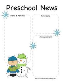 free preschool newsletter templates the world s catalog of ideas