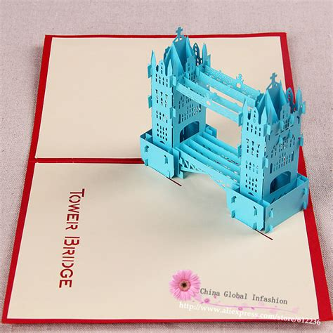 Handmade Greeting Card Business - unique tower bridge handmade 3d pop up greeting cards