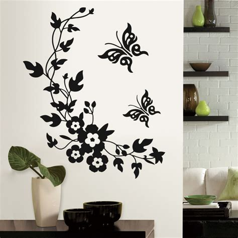Flower Wall Decals For Bathroom 6 Colors New Butterfly Flower Bathroom Wall Stickers Home