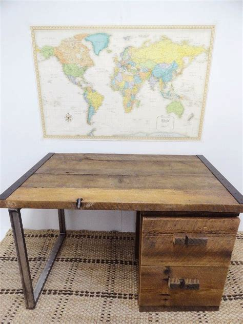 wood desk with drawers reclaimed wood desk with drawers