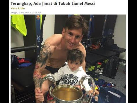 messi tattoo arm jesus messi terungkap ada jimat di tubuh nya youtube