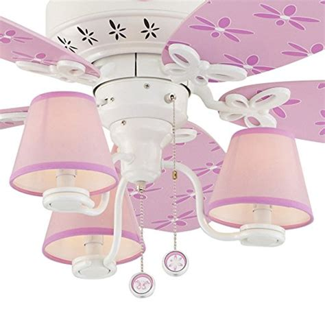 hunter kids ceiling fan hunter dreamland 44 in white and pink kids downrod or