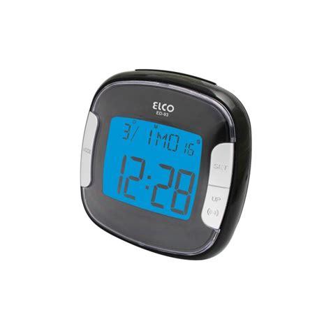 despertador calendario elco digital lcd con luz azul dlplus