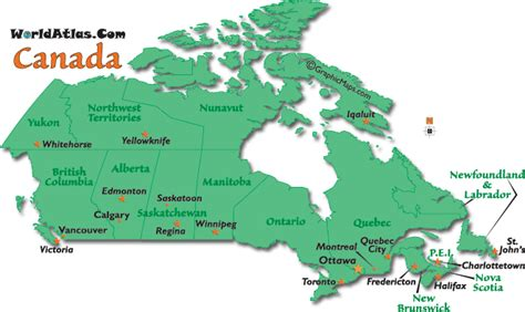 map of canada with major cities canada city map my