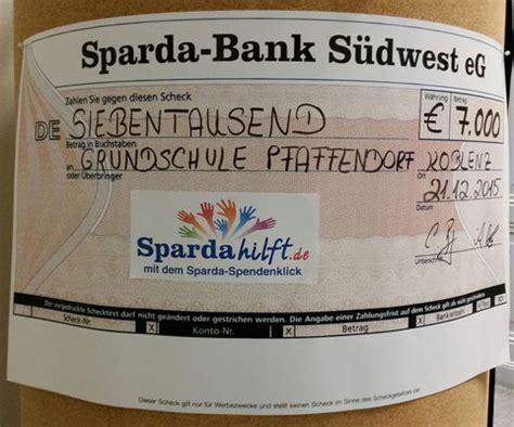 sparda bank suedwest wir danken grundschule pfaffendorf die sch 246 ne