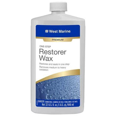 boat wax west marine west marine one step restorer wax quart west marine