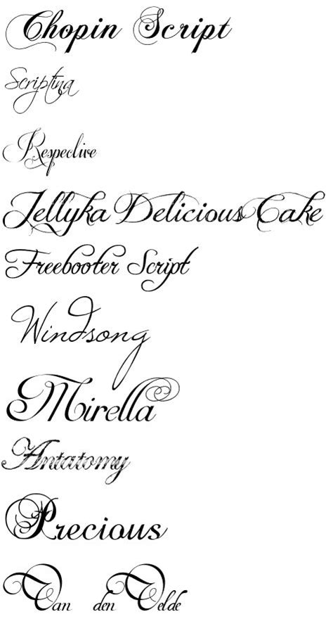 cursive tattoo fonts dafont dafont com calligraphy autos post