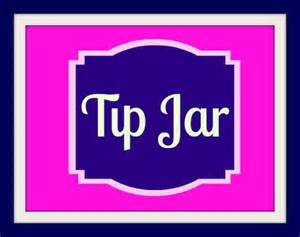 items similar to navy and pink tip jar printable on etsy