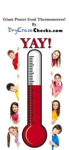 exceptional giant thermometer goal poster dryerasecheckscom