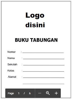 format buku tabungan word contoh buku tabungan anak paud tk kb ra tpa