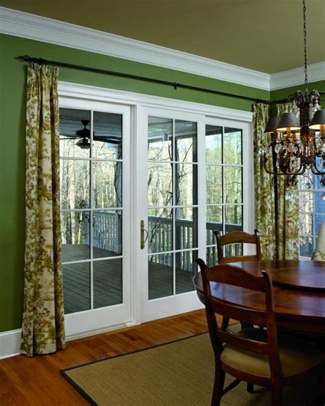 Dining Room With Patio Doors Marvin Patio Doors Traditional Dining Room New York