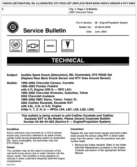 tech service bulletins 28 images using template 1 an