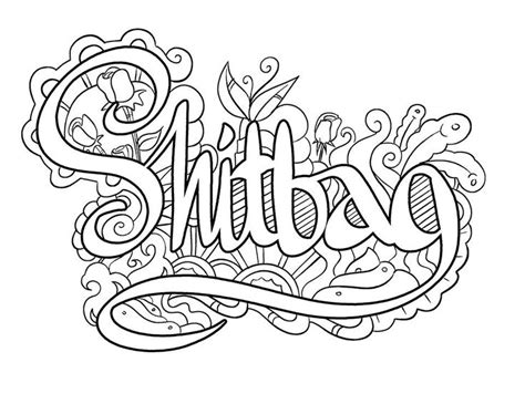 coloring pages for adults swear words https www facebook com groups swearywords swear words