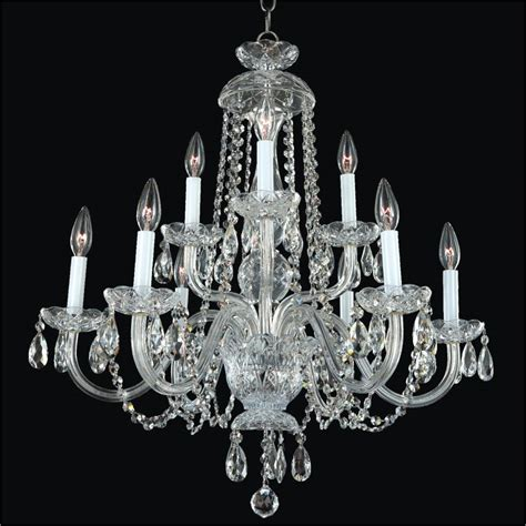 Glass Chandeliers For Dining Room Dining Room Chandelier By Candlelight 542 Glow 174 Lighting