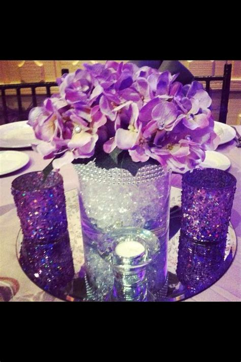 purple centerpieces for sweet 16 www imgkid com the