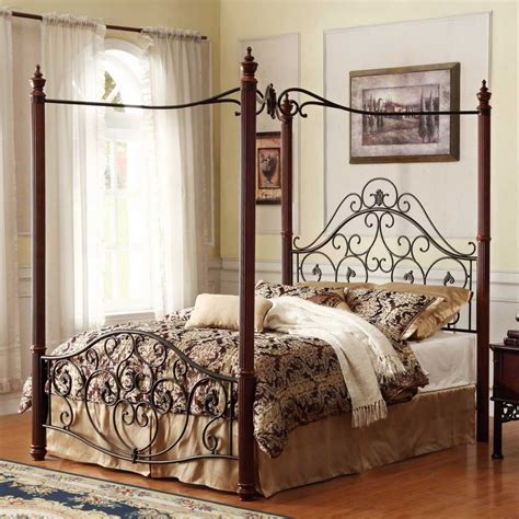 Iron Canopy Bed Frame Bedroom 24 Iron Canopy Bed Designs To Inspire You Wrought Iron Beds Metal Bed Frame