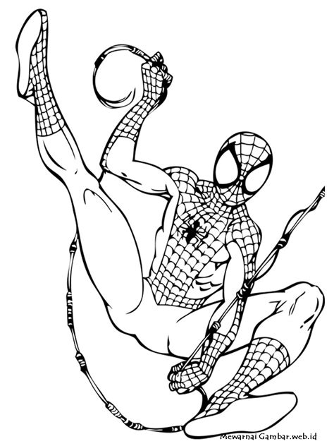 Mewarnai Gambar Spiderman | Mewarnai Gambar