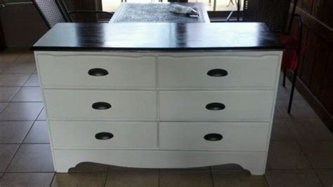 White Dresser With Stained Top by Refinished Furniture After White Vanity With Walnut Stained Top Maci