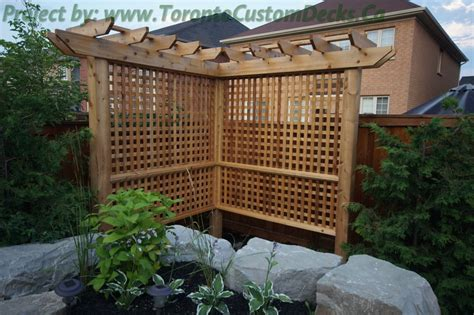Toronto Custom Deck Design Pergolas Fences Outdoor Fence Pergola Designs