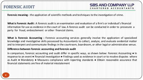 Forensic Audit Report Template Study On Forensic Audit