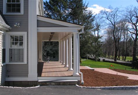 house porch side view federal front porch waltersdesignstudio architecture
