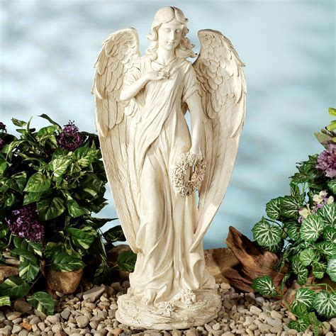 outdoor angel statues heavenly herald indoor outdoor statue