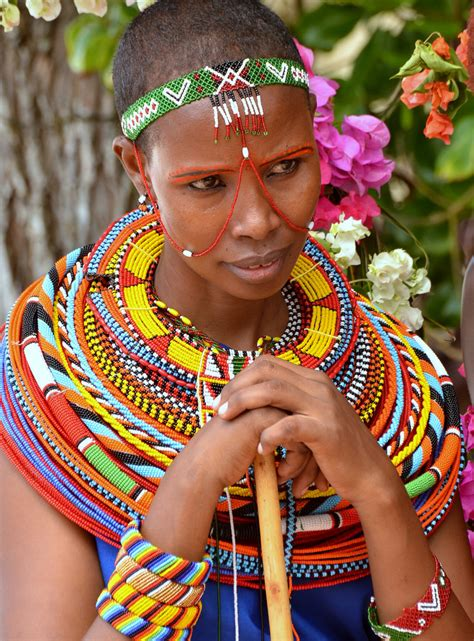 trending ladies wear kenya massai girl adorning colourful and traditional dress sout