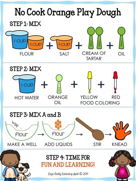 printable playdough recipe cards 25 best early childhood books for art music images on