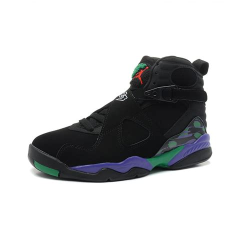 purple and black sneakers air 8 stylish high black green purple black