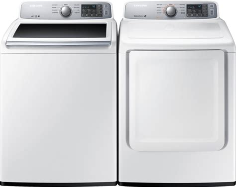 top loader washer dryer samsung 5 2 cu ft top load washer and 7 4 cu ft