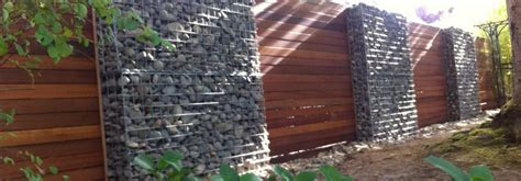 Exterior Wall Thickness by Gabion Fences And Stone Walls Rock Fence Design Uk