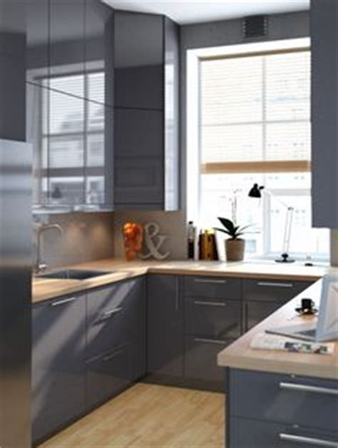 stylish ikea kitchen cabinets for form and functionality faktum kitchen with abstrakt grey high gloss doors drawers