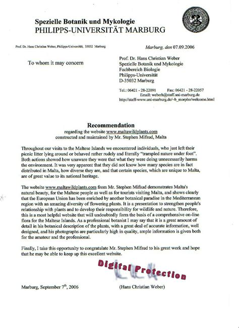 Reference Letter For A Student From A Lecturer letter of recommendation for student from free