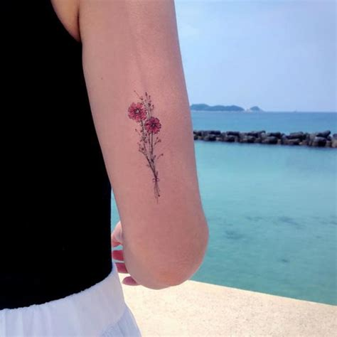 delicate floral tattoo watercolor flower tattoo lazy duo