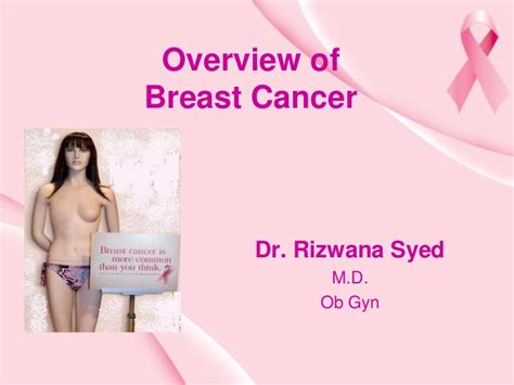 Breast Cancer Ppt Powerpoint Presentation On Breast Cancer Awareness
