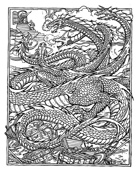 free printable coloring pages for adults advanced dragons monster brains the official advanced dungeons and dragons