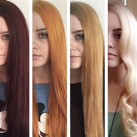 bleach shoo how lift fade and remove hair dye with a the realistic stages of lightening hair from dark to light