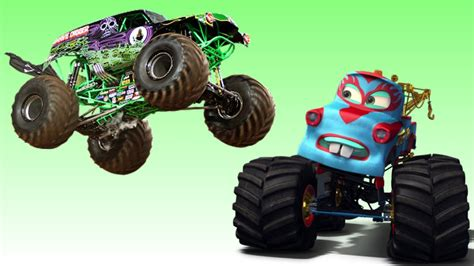 disney monster truck videos disney pixar cars monster truck madness vs monster jam