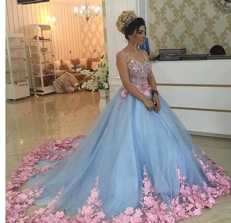 Wst 8918 Violet Flower Dress cheap prom dresses 2017 baby blue 3d floral masquerade gowns 2017 luxury cathedral