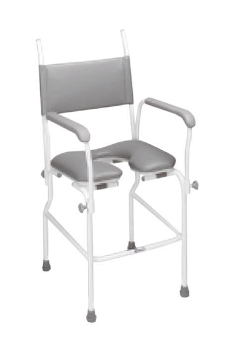 Static Shower Chair by Aquamaster A02 Static Shower Commode Chair