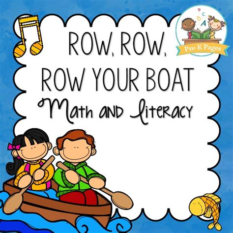 row your boat kindergarten row your boat preview pre k pages