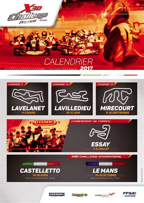Calendrier Karting 2016 08 11 2016 Calendrier X30 2017 Karting