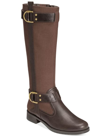 aerosole boots aerosoles ride line boots in brown lyst
