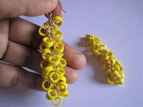 Paper Earrings Handmade Paper Jewellery - handmade jewelry paper quilling earrings hanging
